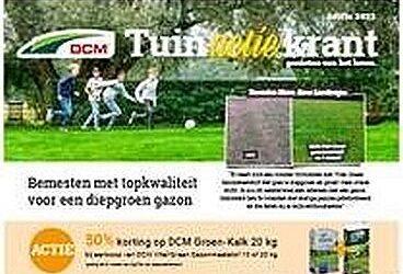 DCM tuinactiekrant